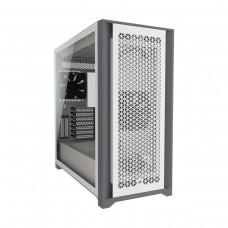 Corsair 5000D AIRFLOW Tempered Glass Midi Tower ATX Case — White
