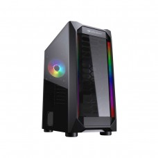 COUGAR MX410-T ARGB Tempered Glass Mid Tower ATX Case — Black