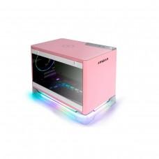 InWin A1 Plus Mini ITX Case with Qi Charging and 650w 80 PLUS Gold PSU — Pink