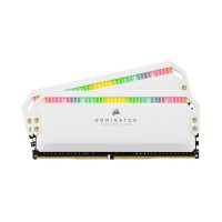 Corsair DOMINATOR PLATINUM RGB 16GB (2 x 8GB) DDR4 DRAM 3600MHz C18 Memory Kit — White