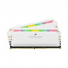 Corsair DOMINATOR PLATINUM RGB 16GB (2 x 8GB) DDR4 DRAM 3200MHz C16 Memory Kit — White