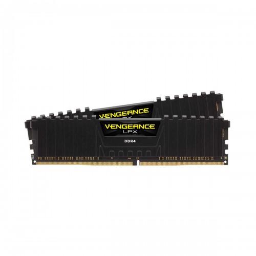 Corsair VENGEANCE LPX 16GB (2 x 8GB) DDR4 DRAM 3200MHz CL16 1.35V CMK16GX4M2B3200C16 Memory Kit — Black
