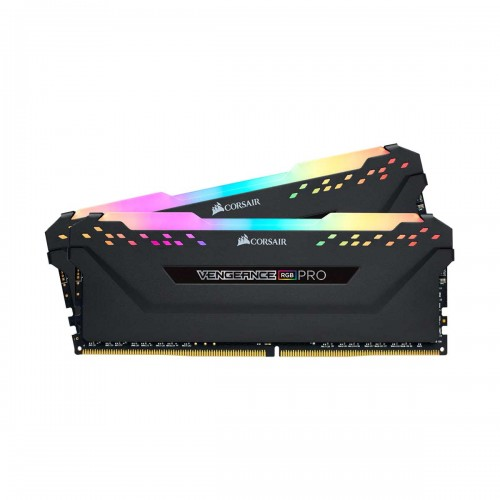 Corsair VENGEANCE RGB PRO 16GB (2 x 8GB) DDR4 DRAM 3200MHz CL16 1.35V CMW16GX4M2C3200C16 Memory Kit — Black