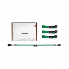 Noctua NA-SEC1 chromax.green Fan Extension Cables, Pack of 4, 30cm — Green
