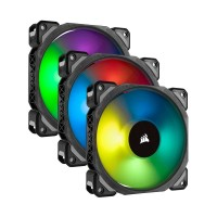 Corsair Magnetic Levitation Series ML120 Pro RGB LED Fan, 3 Pack with Lighting Node PRO Controller, 120mm