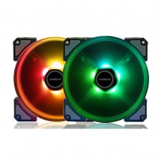 InWin Crown AC140 High Static Pressure ARGB, 2 Pack with Controller, 140mm Fan
