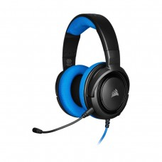 Corsair HS35 Stereo Gaming Headset, 3.5mm, Blue and Black