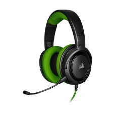 Corsair HS35 Stereo Gaming Headset, 3.5mm, Green and Black