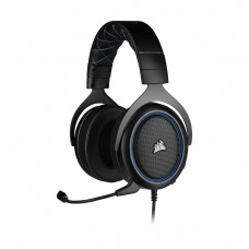 Corsair HS50 PRO Stereo Gaming Headset, 3.5mm, Blue and Black