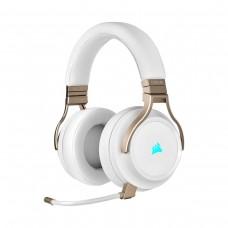 Corsair Virtuoso RGB Wireless High Fidelity Gaming 7.1 Surround Sound Headset, Pearl