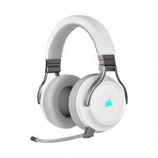 Corsair Virtuoso RGB Wireless High Fidelity Gaming 7.1 Surround Sound Headset, White