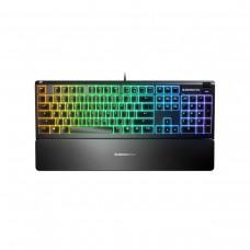 SteelSeries Apex 3 IP32 Water Resistant Mechanical RGB Gaming Keyboard — SteelSeries Whisper-Quiet