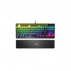 SteelSeries Apex 7 TKL RGB Tenkeyless Mechanical Gaming Keyboard with OLED Display — SteelSeries QX2 Red