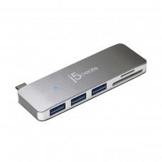 j5 Create JCD348 5-in-1 UltraDrive Mini Dock with 3 x USB 3.0 / SD / MicroSD, USB 3.0 Type-C