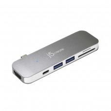 j5 Create JCD386 7-in-1 Mini Dock with HDMI / 2 x USB 3.1 / USB 3.1 Type-C / SD / MicroSD, USB 3.0 Type-C