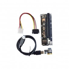 PCI-Express Riser, PCI-Express x16 to PCI-Express x1, Molex Power Connector, Unbranded