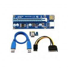 PCI-Express Riser, PCI-Express x16 to PCI-Express x1, 6-Pin PCIe Power Connector, Unbranded