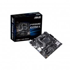Asus Prime A520M-K, AMD A520 Chipset, Socket AM4, Micro ATX Desktop Motherboard