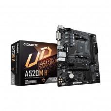 Gigabyte A520M H, AMD A520 Chipset, Socket AM4, Micro ATX Desktop Motherboard