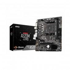 MSI A520M-A PRO, AMD A520 Chipset, Socket AM4, Micro ATX Desktop Motherboard