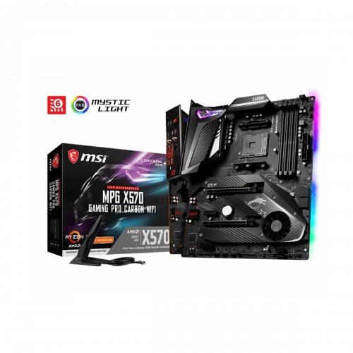 MSI MPG X570 GAMING PRO CARBON WIFI, AMD X570 Chipset, Socket AM4, ATX Desktop Motherboard