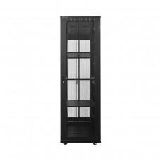 Linkbasic 42U Floor Standing Network Cabinet, 600mm x 1000mm, 4 Fans, 3 Shelves, Perforated Steel Doors