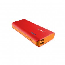 ADATA PT100 Power Bank with Flashlight, Dual Outputs, 10,000 mAh, Red