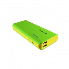 ADATA PT100 Power Bank with Flashlight, Dual Outputs, 10,000 mAh, Green
