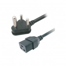 Computer High Current Power Cable IEC / C19, 16 Amp Limit, Unbranded, 1.8m