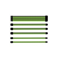 Cooler Master Individually Sleeved Extension Cable Kit, Generic, Green and Black