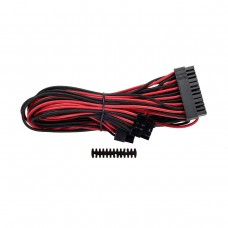 Corsair Premium Individually Sleeved ATX 24-Pin Cable, Type 4, Gen 3, Red and Black
