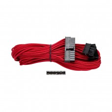 Corsair Premium Individually Sleeved ATX 24-Pin Cable, Type 4, Gen 3, Red