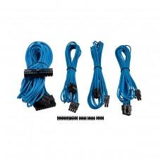 Corsair Premium Individually Sleeved PSU Cables, Starter Kit, Type 4, Gen 3, Blue
