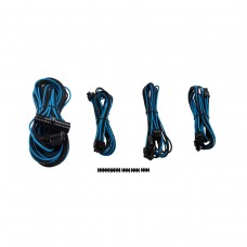 Corsair Premium Individually Sleeved PSU Cables, Starter Kit, Type 4, Gen 3, Blue and Black