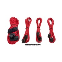 Corsair Premium Individually Sleeved PSU Cables, Starter Kit, Type 4, Gen 3, Red