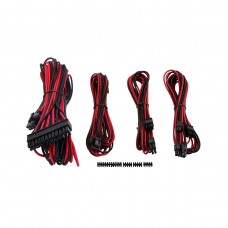 Corsair Premium Individually Sleeved PSU Cables, Starter Kit, Type 4, Gen 3, Red and Black