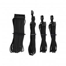 Corsair Premium Individually Sleeved PSU Cables, Starter Kit, Type 4, Gen 4, Black