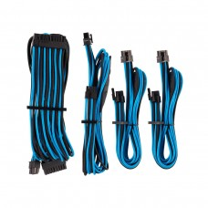 Corsair Premium Individually Sleeved PSU Cables, Starter Kit, Type 4, Gen 4, Blue and Black