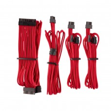 Corsair Premium Individually Sleeved PSU Cables, Starter Kit, Type 4, Gen 4, Red