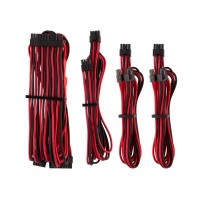 Corsair Premium Individually Sleeved PSU Cables, Starter Kit, Type 4, Gen 4, Red and Black