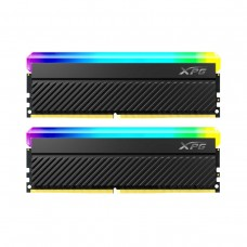 ADATA XPG SPECTRIX D45G RGB 16GB (2 x 8GB) DDR4 DRAM 3600MHz CL18 1.35V AX4U36008G18I-DCBKD45G Memory Kit — Black