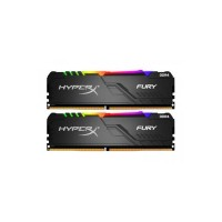 Kingston HyperX Fury RGB 64GB (2 x 32GB) DDR4 DRAM 3200MHz C16 Memory Kit — Black