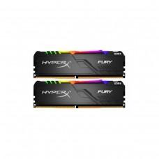 Kingston HyperX Fury RGB 16GB (2 x 8GB) DDR4 DRAM 2400MHz C15 Memory Kit — Black