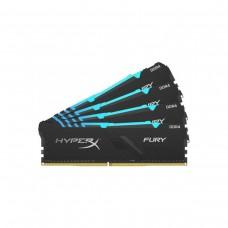 Kingston HyperX Fury RGB 64GB (4 x 16GB) DDR4 DRAM 3200MHz C16 Memory Kit — Black