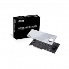 ASUS Hyper M.2 x16 Gen 4 AIC Adapter PCIe Gen4x4 M.2 22110 NVMe Add-on Card
